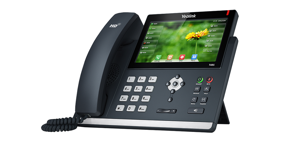 Yealink T48S, a VoIP phone with best-in-class features.